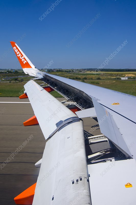 Easyjet aircraft wing