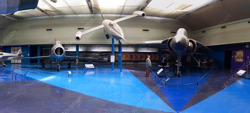 Museum aircraft display