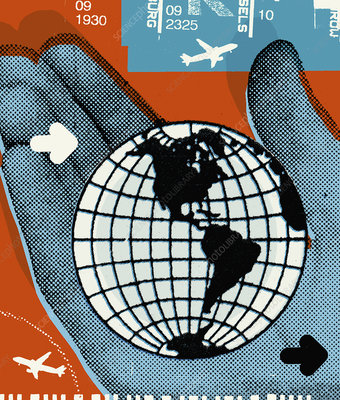 Global travel, illustration