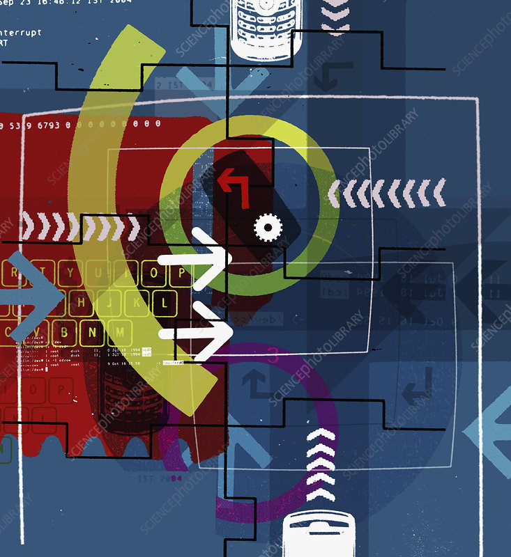 Communication collage, illustration