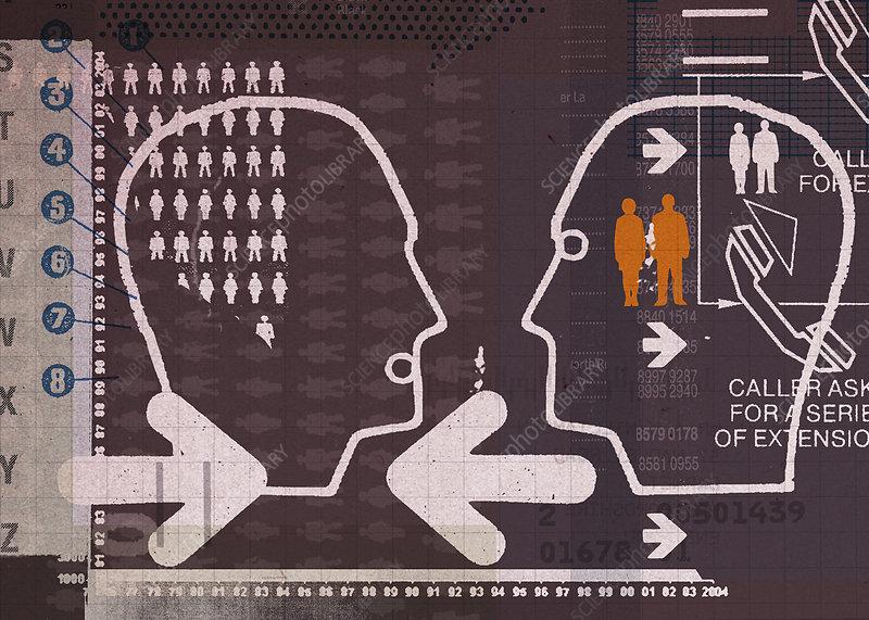 Communication, illustration