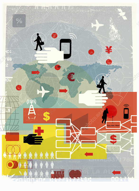 Global business, illustration