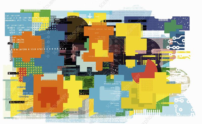 Computing, illustration