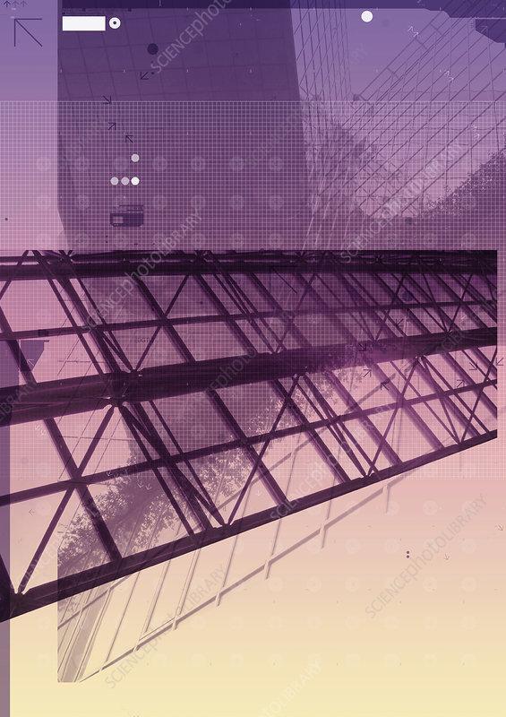Architecture, abstract illustration