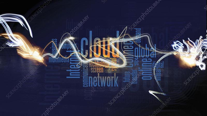 Computing buzzwords, illustration