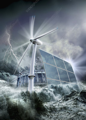 Alternative energy, illustration