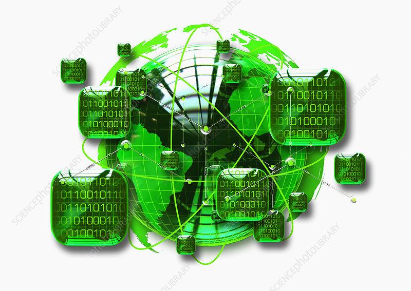 Digital globe, illustration