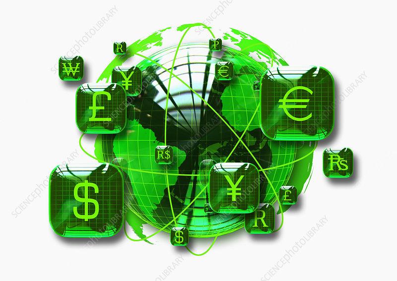 Global finance, illustration