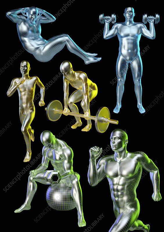 Man exercising, illustration