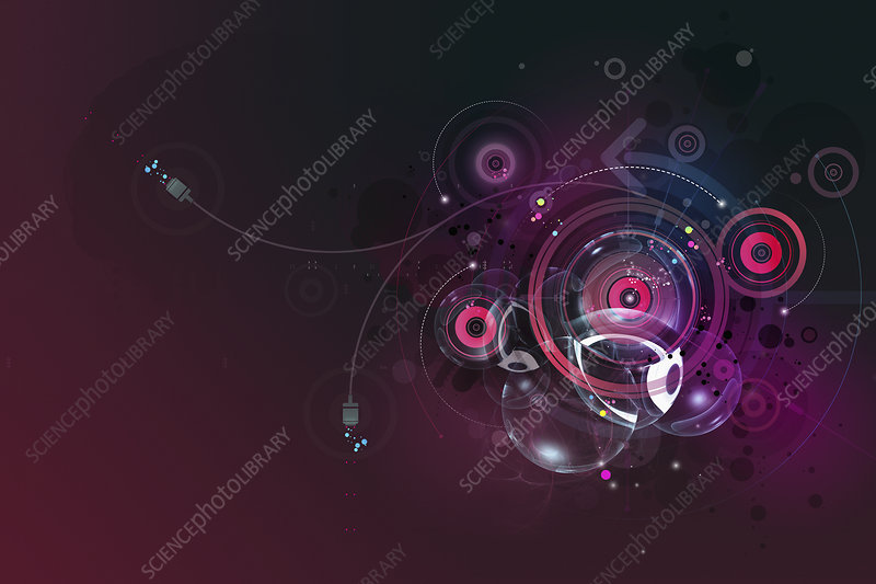 Spinning cogs, illustration