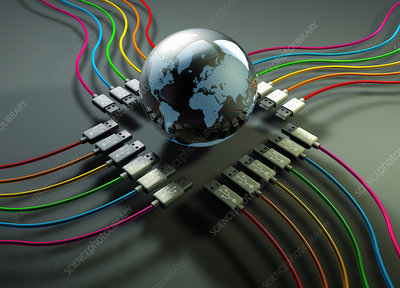 Global connectivity, conceptual illustration