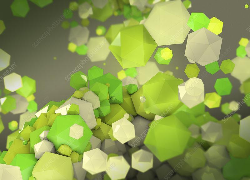 Green polygons, illustration