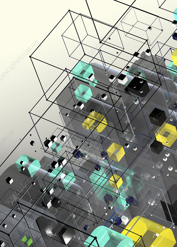 Abstract geometric structure, illustration