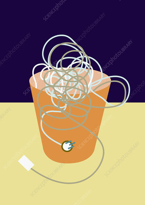 Electrical waste, conceptual illustration