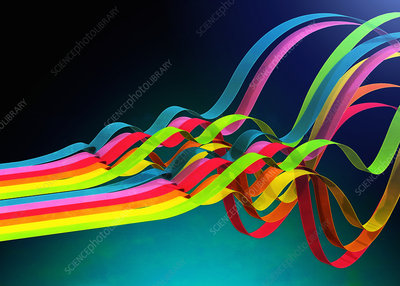 Colourful ribbons, illustration