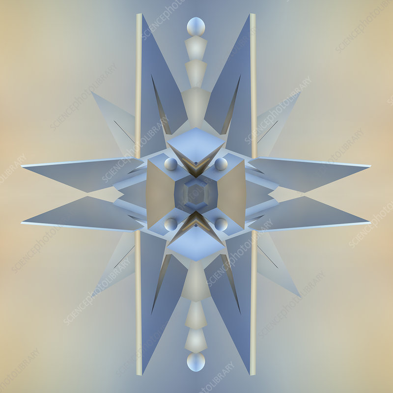 Abstract symmetrical spike pattern, illustration