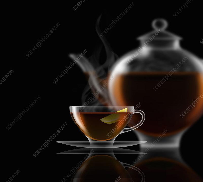 Lemon tea, illustration