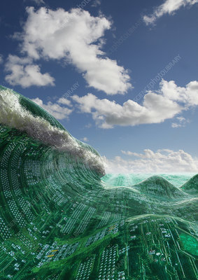 Circuit board wave, illustration