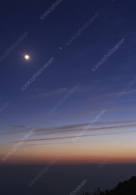 Conjunction of the Moon and Venus
