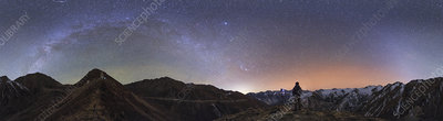 Milky Way over Mount Balang, China