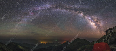 Milky Way over Mount Bada, China