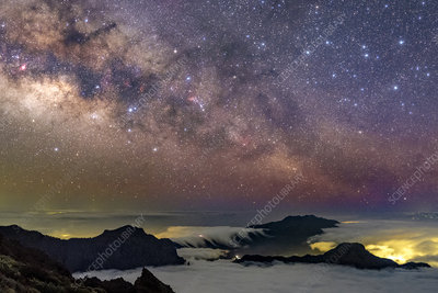 Milky Way over Caldera de Taburiente