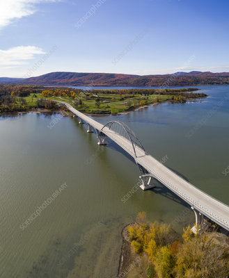 Lake Champlain Bridge, Vermont, USA