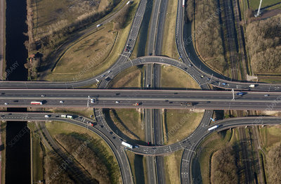 Rottepolderplein motorway junction, aerial photograph