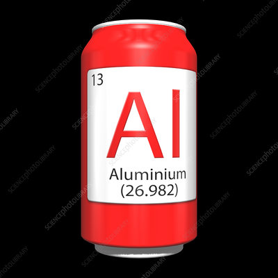 Aluminium, chemical symbol and can