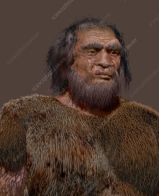 Prehistoric modern human, illustration