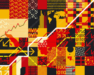 Abstract finance pattern, illustration