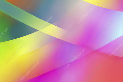 Abstract multi-layered translucent pattern, illustration