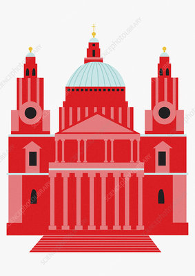 Saint Paul's Cathedral, London, illustration