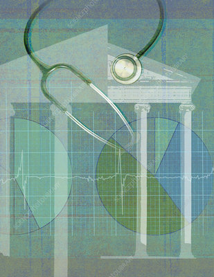 Health of banking, illustration