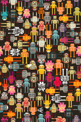 Robot pattern, illustration