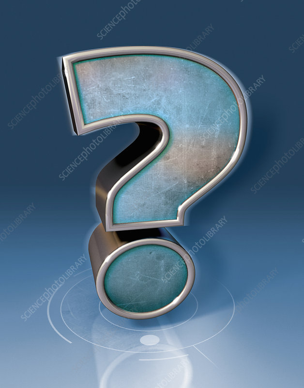 3d metal question mark, illustration
