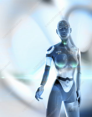 Female android, illustration
