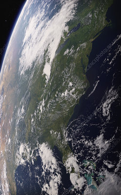 Eastern United States from space, illustration