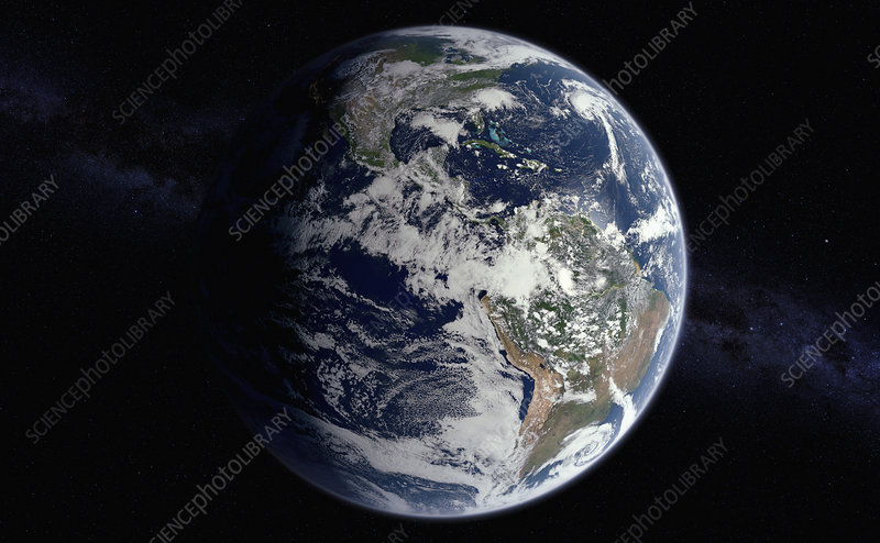 Earth from space, illustration