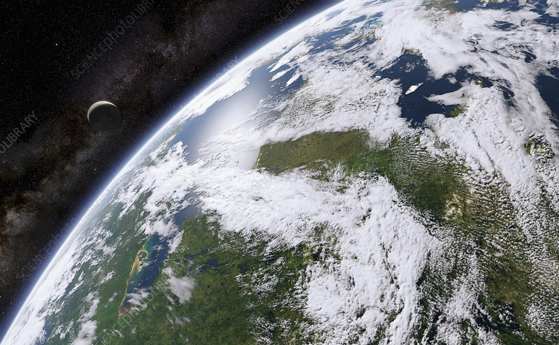 Hudson Bay from space, illustration