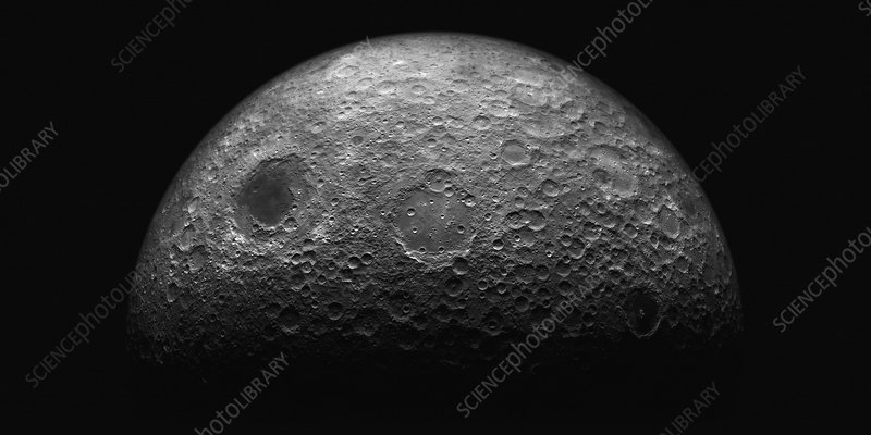 The moon from space, illustration