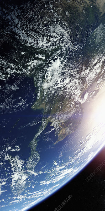 Southeast Asia from space, illustration