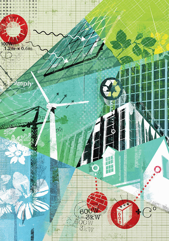 Environmental conservation, illustration