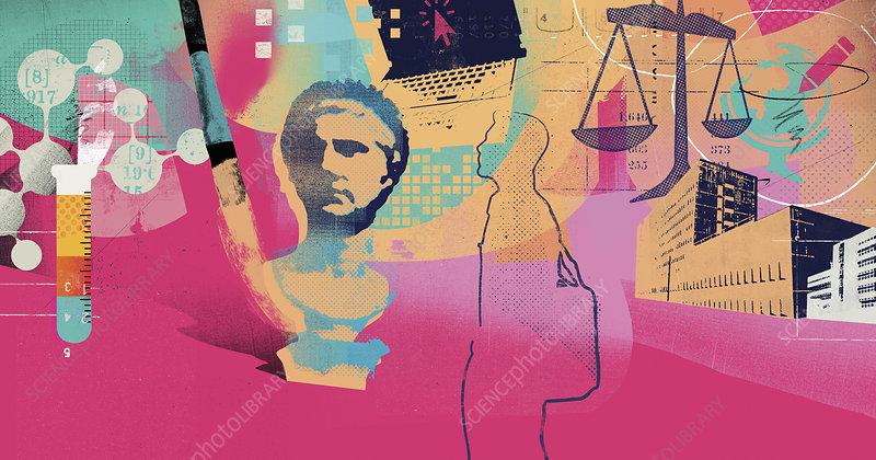 Career opportunities for university student, illustration