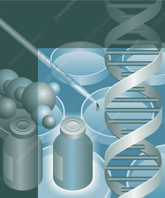 Genetic research, illustration
