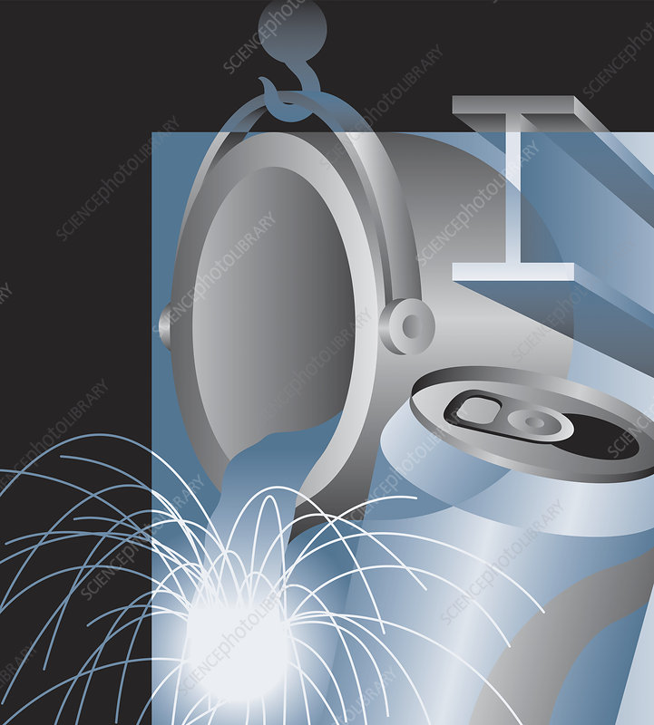Metal industry montage, illustration