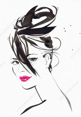 Beautiful woman, illustration