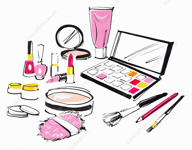 Makeup, illustration