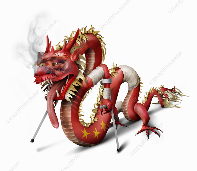 Unhealthy Chinese dragon, illustration