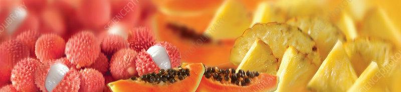 Fresh fruit, illustration